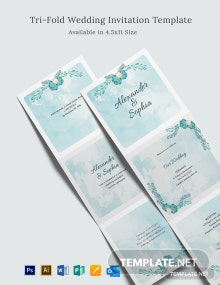 Tri-Fold Wedding Invitation Template