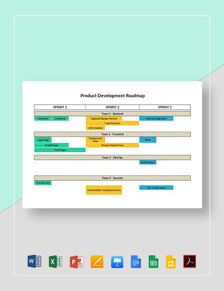 Product Development Roadmap Template