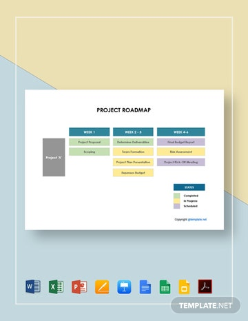 Free Sample Project Roadmap Template