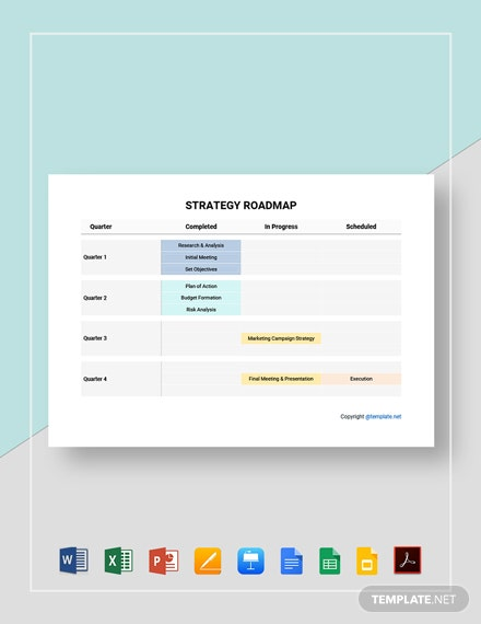 Free Sample Strategy Roadmap Template