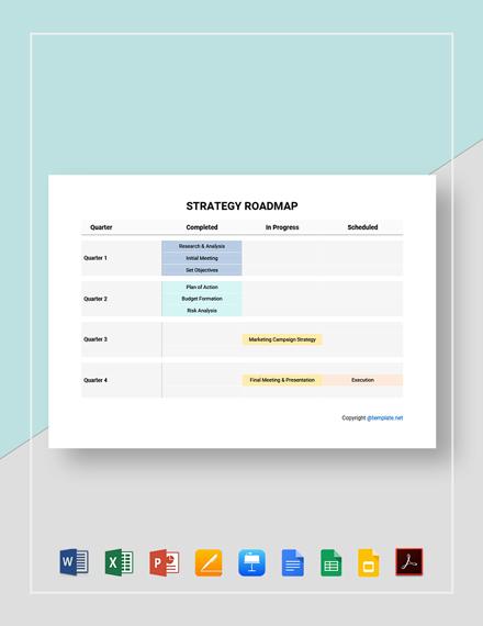 Free Sample Strategy Roadmap Template