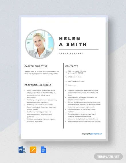 Grant Analyst Resume