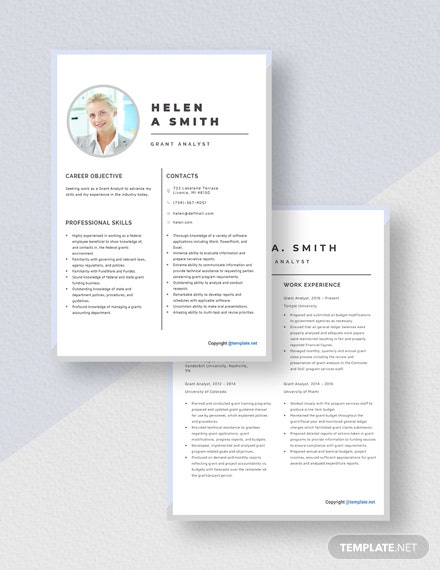 Grant Analyst Resume Download