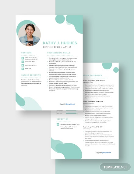 Graphic Design Artist Resume Download