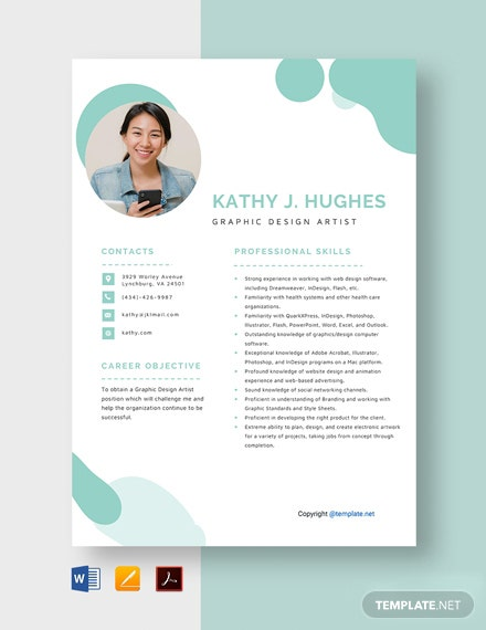 Free Graphic Design Artist Resume Template