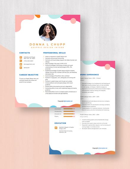 Graphic Design Intern Resume Download