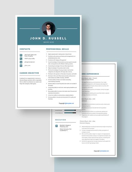 Grocery Buyer Resume Download