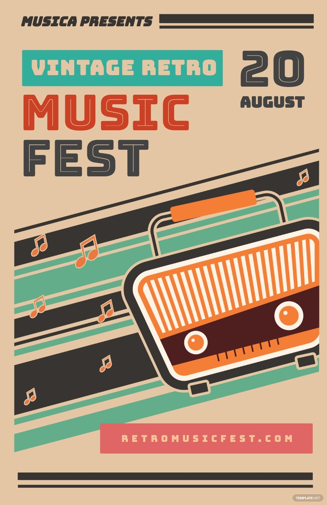 Vintage Retro Music Poster Template