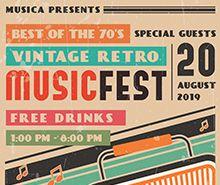 Vintage Retro Music Poster Template
