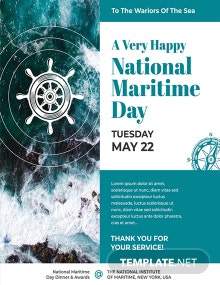 Free National Maritime Day Poster Template