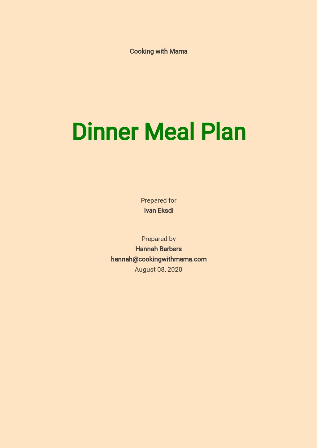 Dinner Meal Plan Template.jpe