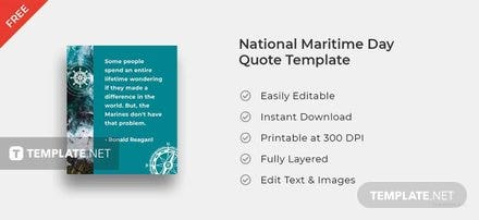 National Maritime Day Quote Template