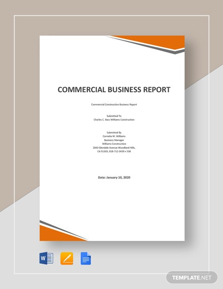 Commercial Business Report Template
