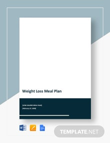 Weight Loss Meal Plan Template