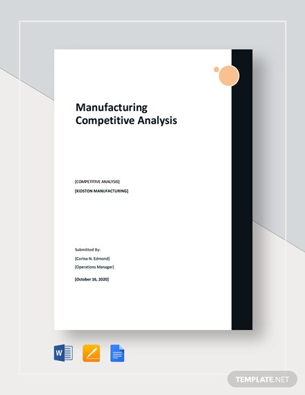 Manufacturing Competitive Analysis