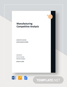 Manufacturing Competitive Analysis Template