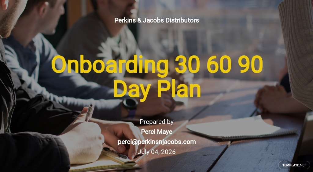 Onboarding 30-60-90-Day Plan Template
