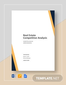 Real Estate Competitive Analysis Template