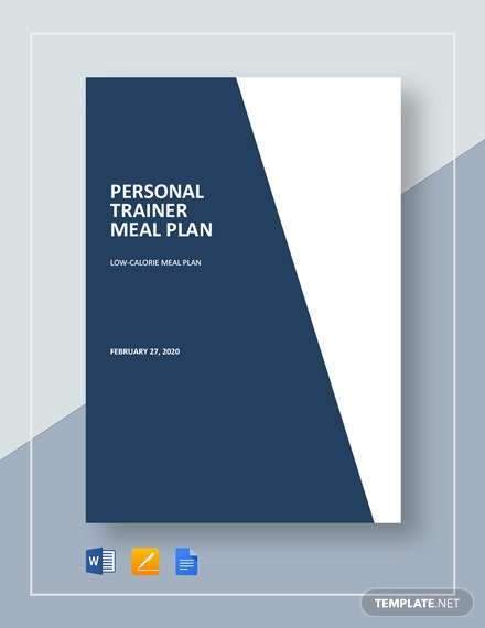 Personal Trainer Meal Plan Template