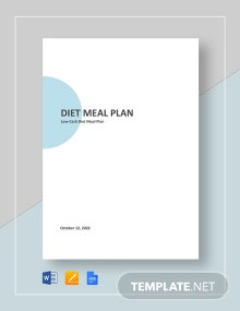 Diet Meal Plan Template