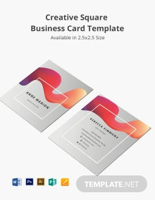 Modern Square Business Card Template