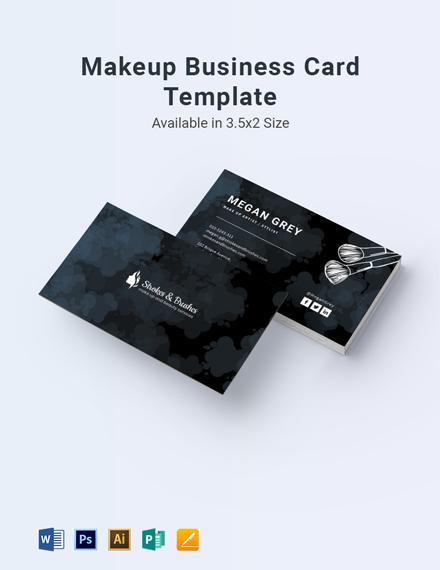 Makeup Business Card Template