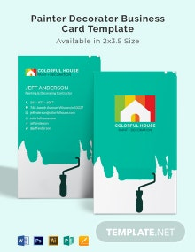 Painter Decorator Business Card Template