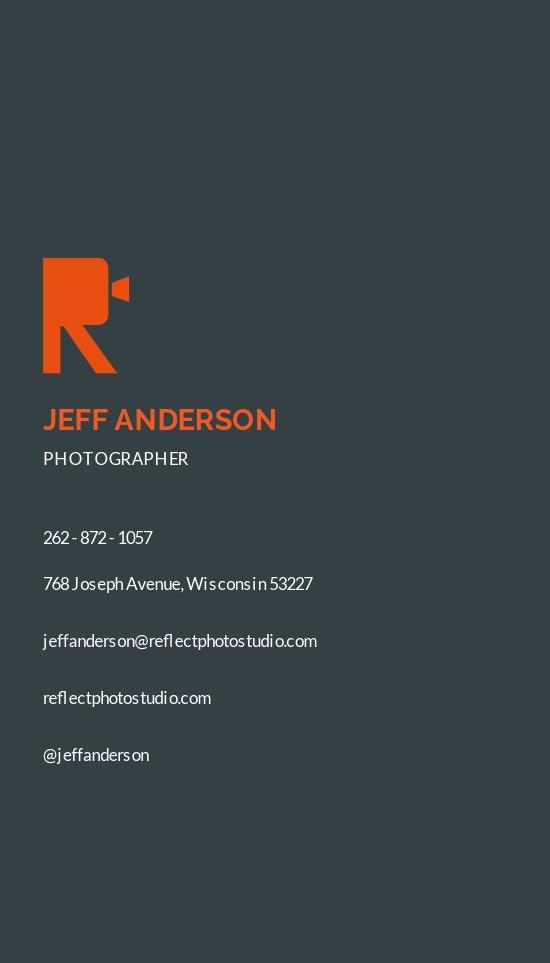 Photo Business Card Design Template 1.jpe