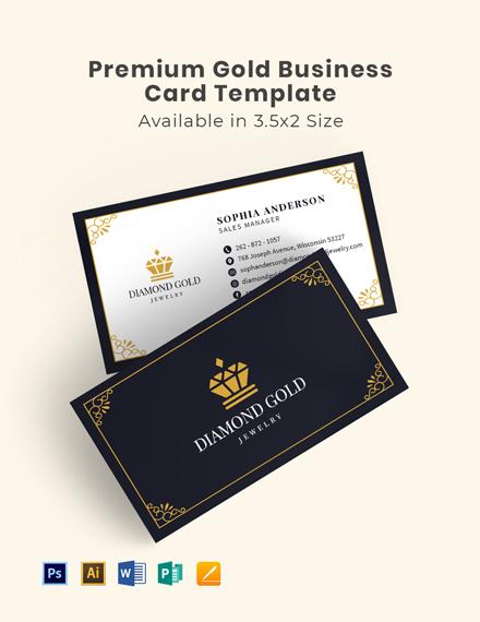 Premium Gold Business Card Template