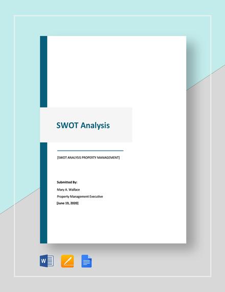 Free Printable SWOT Analysis Template