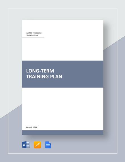 Long-Term Training Plan Template