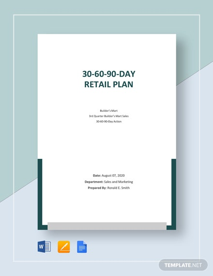 30-60-90-Day Retail Plan Template