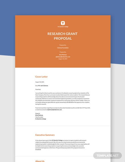 Free Sample Grant Proposal Template