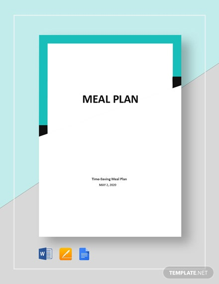 Sample Meal Plan Template