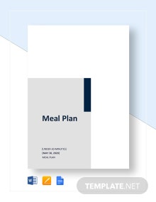 Simple Meal Plan Template