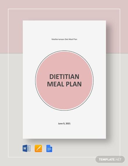 Dietitian Meal Plan Template