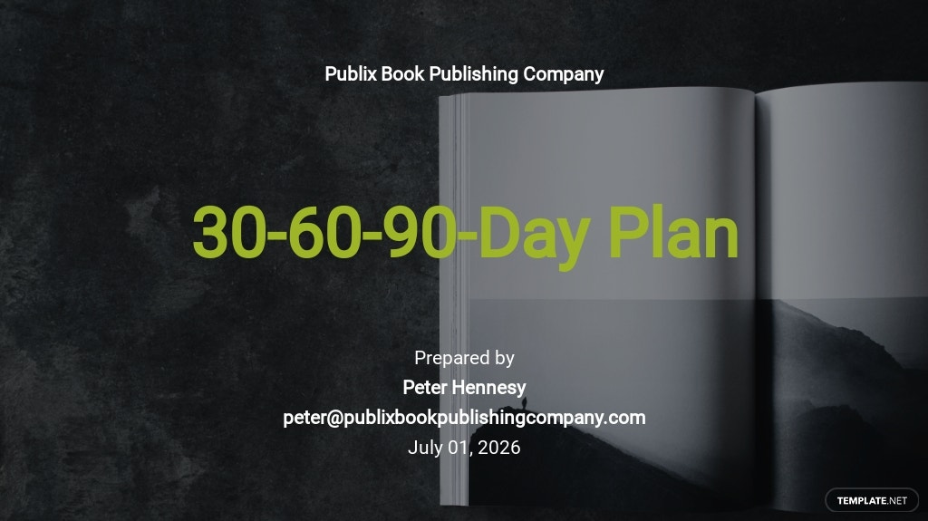 Creative 30-60-90-Day Plan Template