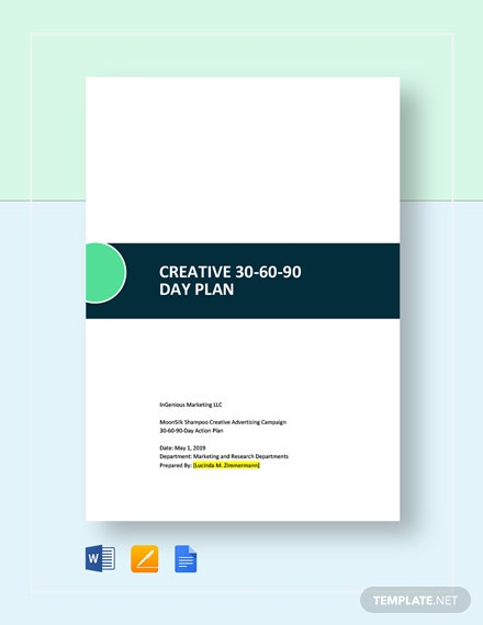 Creative Day Plan