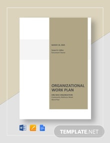 Organizational Work Plan Template