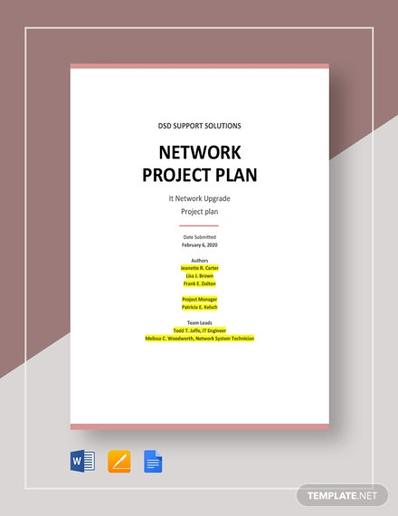 Network Project Plan Template