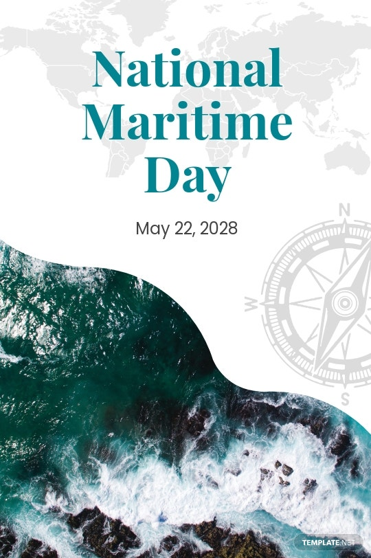 National Maritime Day Tumblr Post Template