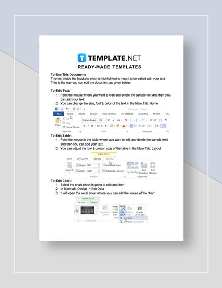 Market Analysis Format Instruction
