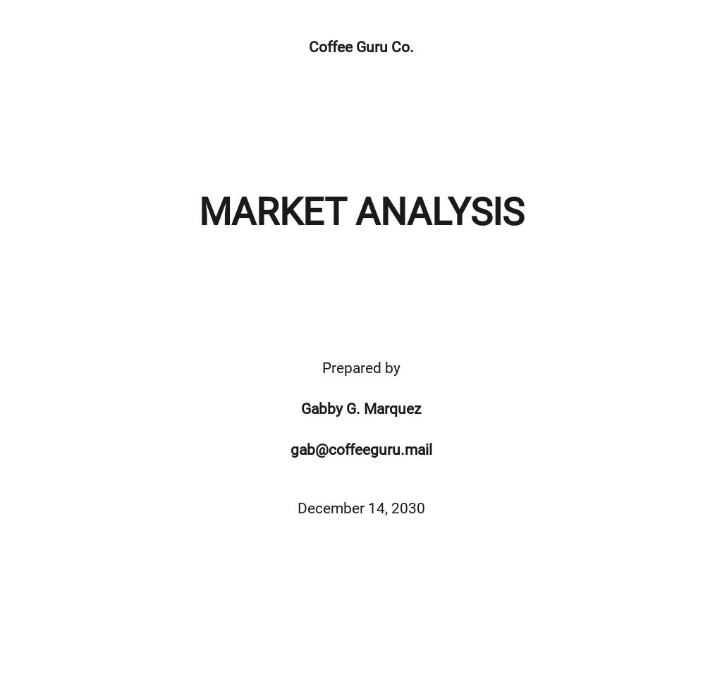Market Analysis Format Template