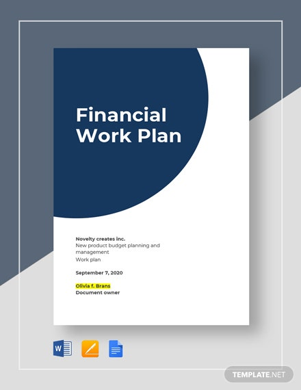 Financial Work Plan Template