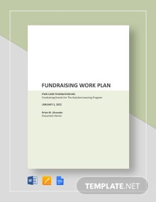 Fundraising Work Plan Template