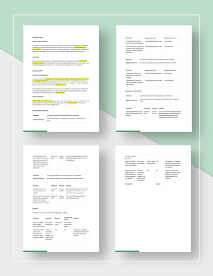Audit Work Plan Template Download