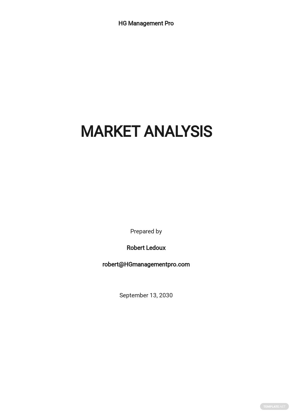 Project Management Market Analysis Template