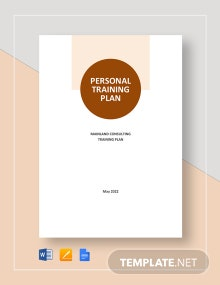 Personal Training Plan Template