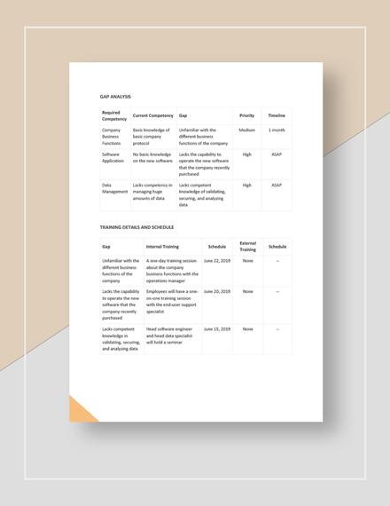 Enduser training plan Download