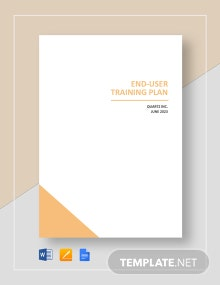 End-user Training Plan Template